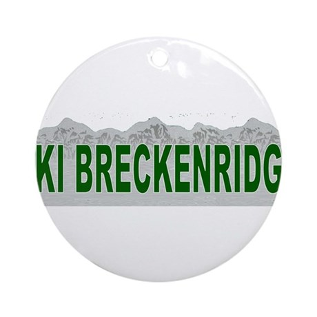 Ski Breckenridge Ornament (Round)