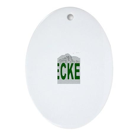 Ski Breckenridge Oval Ornament