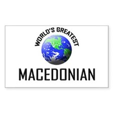 World's Greatest MACEDONIAN Rectangle Decal