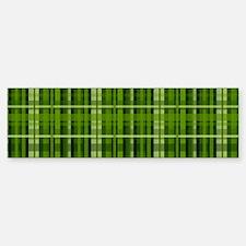 Modern Irish Green Plaid Pattern Bumper Bumper Bumper Sticker