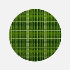 Modern Irish Green Plaid Pattern Button