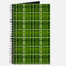 Modern Irish Green Plaid Pattern Journal