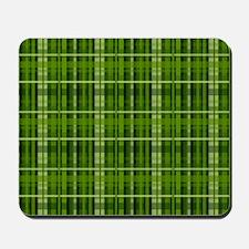 Modern Irish Green Plaid Pattern Mousepad