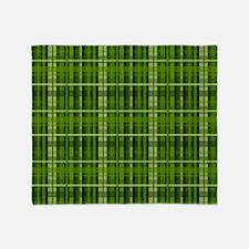 Modern Irish Green Plaid Pattern Throw Blanket