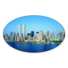 New York City Skyline Oval Decal