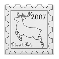 Christmas stamp Tile Coaster