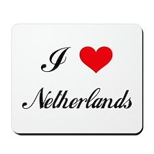 I Love Netherlands Mousepad