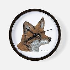 Fox Profile Design Wall Clock