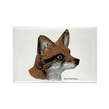 Fox Profile Design Rectangle Magnet