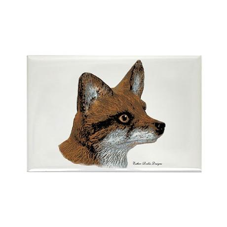 Fox Profile Design Rectangle Magnet (10 pack)