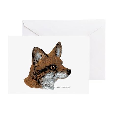 Fox Profile Design Greeting Cards (Pk of 10)