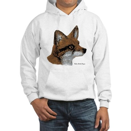 Fox Profile Design Hooded Sweatshirt