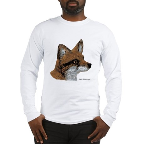 Fox Profile Design Long Sleeve T-Shirt