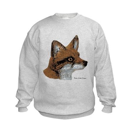 Fox Profile Design Kids Sweatshirt