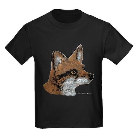 Fox Profile Design Kids Dark T-Shirt