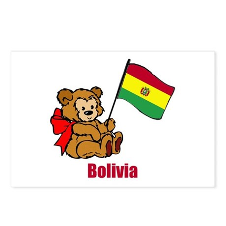 Bolivia Teddy Bear Postcards (Package of 8)