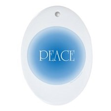 Gentle Peace Oval Ornament