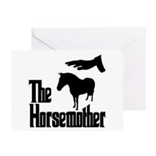 The Horse Mother, funny Greeting Card