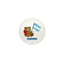 Argentina Teddy Bear Mini Button (100 pack)