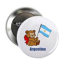 "Argentina Teddy Bear 2.25"" Button (100 pack)"