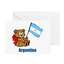 Argentina Teddy Bear Greeting Cards (Pk of 10)