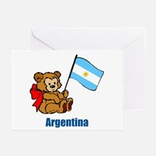 Argentina Teddy Bear Greeting Cards (Pk of 10)