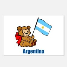 Argentina Teddy Bear Postcards (Package of 8)