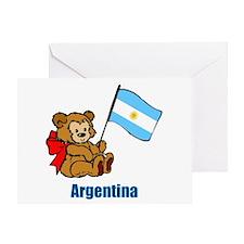 Argentina Teddy Bear Greeting Card
