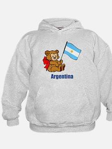 Argentina Teddy Bear Hoodie