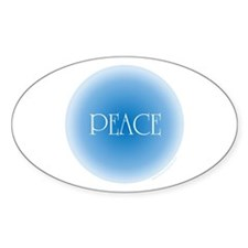 Gentle Peace Oval Decal