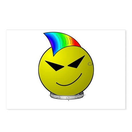 Punk Smiley Postcards (Package of 8)