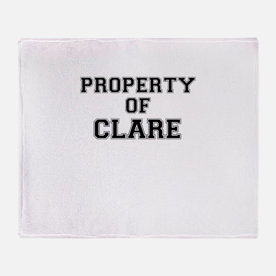 Property of CLARE Throw Blanket