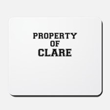 Property of CLARE Mousepad
