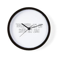 Put Me Back On My Barstool Wall Clock