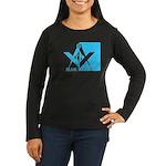 Blue Lodge in Blue Women's Long Sleeve Dark T-Shir