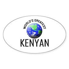 World's Greatest KENYAN Oval Decal