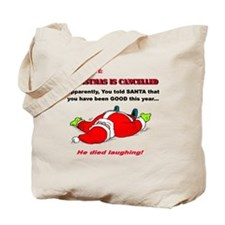 Christmas is Cancelled Two Side Print Tote Bag