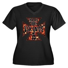 Vikings Women's Plus Size V-Neck Dark T-Shirt