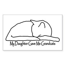 My Daughter Gave me Grandcats Decal