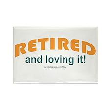 Retired & Loving It Rectangle Magnet