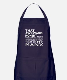 Awkward Manx Cat Designs Apron (dark)