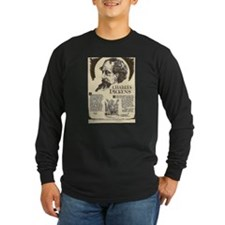 Charles Dickens Mini Biography Long Sleeve T-Shirt