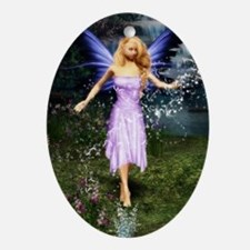 Faerie Among the Falls Oval Ornament