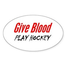 """""""Donate Blood"""" Oval Decal"""