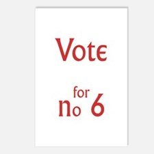 Vote for no.6 Postcards (Package of 8)