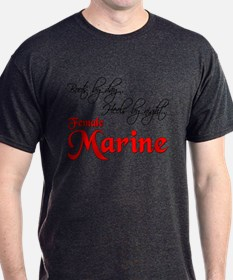 Boots by Day Female Marine T-Shirt