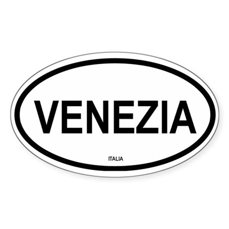 Venezia Oval Sticker