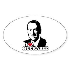 I heart Huckabee Oval Decal