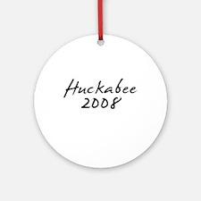 Huckabee 2008 Autograph Ornament (Round)