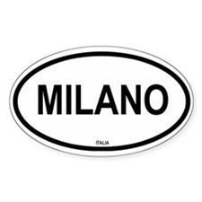 Milano Oval Decal